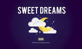 Sweet Dreams Happiness Illusion Relief Good Night Concept Stock Images