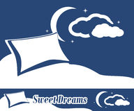 Sweet dreams. Label and banner for design Stock Photo