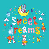 Sweet dreams lettering design Stock Images