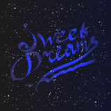 Sweet dreams lettering Stock Images