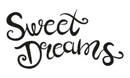 Sweet dreams lettering. Vector hand drawing text Sweet Dreams. Sweet dreams lettering Stock Photography