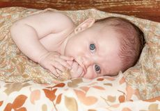 Sweet dreams of a little baby girl Royalty Free Stock Photo