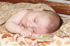 Sweet dreams of a little baby girl Stock Photo