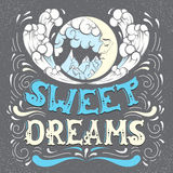 Sweet dreams. Quote typographical background Stock Photography