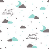 Sweet dreams seamless background Royalty Free Stock Image