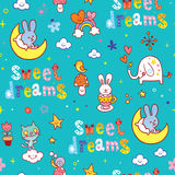 Sweet dreams seamless pattern Royalty Free Stock Photography