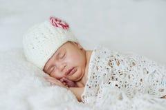 Sleeping newborn baby royalty free stock photography