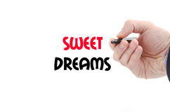 Sweet dreams text concept Royalty Free Stock Photos