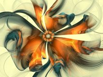 Sweet Dreams Too. Bright fractal in floral shape royalty free illustration