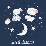 Sweet dreams vector illustration for kids. Stock Photos