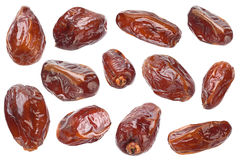Sweet dried date fruit collection Royalty Free Stock Images