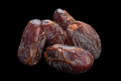 Sweet dried date fruit Stock Images