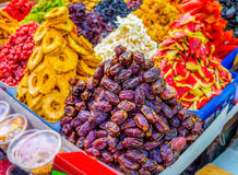 The sweet dried dates Royalty Free Stock Images