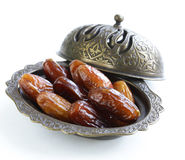 Sweet dried dates Royalty Free Stock Images