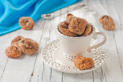 Sweet dried fig in the cup Royalty Free Stock Images