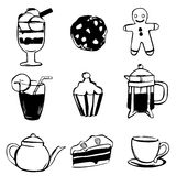 Sweet drink design elements Royalty Free Stock Photos