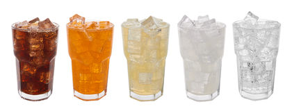 Sweet drinks stock photos
