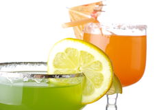 Sweet drinks isolated on white Stock Images