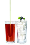 Sweet drinks and sugar Stock Photography