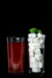 Sweet drinks and sugar Royalty Free Stock Photography