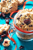 Sweet dry cranberry cookies Royalty Free Stock Image