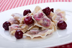 Sweet dumpling with cherry Stock Photo
