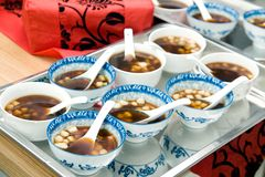 Sweet dumplings at chinese wedding Stock Photo