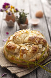 Sweet Easter bread Stock Photo