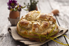 Sweet Easter bread stock image
