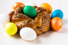 Sweet Easter bread Stock Images