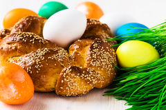 Sweet Easter bread Royalty Free Stock Image