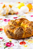 Sweet Easter bread. Happy Easter Royalty Free Stock Image