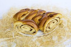 Sweet Easter bread royalty free stock images