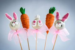 Sweet Easter cake pops Royalty Free Stock Images
