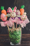 Sweet Easter cake pops Royalty Free Stock Photos