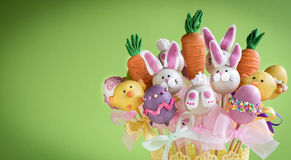 Sweet Easter cake pops Stock Photo