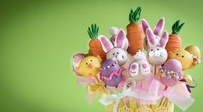 Sweet Easter cake pops Stock Photo