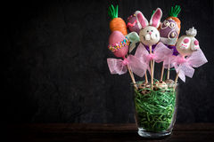 Sweet Easter cake pops Stock Photography