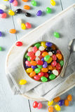 Sweet Easter Egg Shaped Jelly Candies Stock Photo