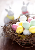 Sweet easter eggs Royalty Free Stock Photography