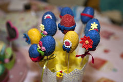 Sweet easter eggs Royalty Free Stock Photo