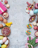 Sweet easter food selection Royalty Free Stock Photography