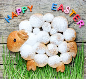 Sweet Easter lamb bread , adorable Easter holiday treats for kid Stock Photography