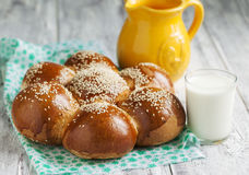 Sweet Egg Daisy Bread Stock Images