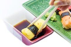 Sweet egg Japanese sushi Royalty Free Stock Photography