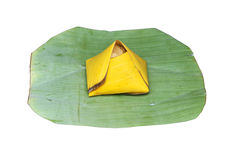 Sweet egg on sticky rice Stock Photography