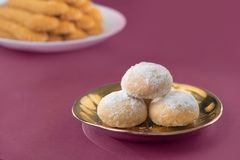 Sweet Eid El-Fitr Cookies, Muslim Lesser Holiday Traditional Sweets stock photography