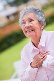 Sweet elder woman Stock Image