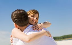 Sweet embrace Stock Image