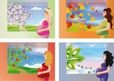 Sweet expectation - seasons.  Royalty Free Stock Photo